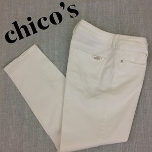 Chico's So Slimming Girl Friend Crop Jeans
